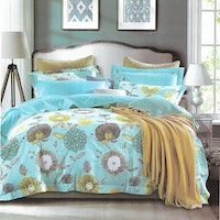 Sleep Buddy Set Sprei Blue Dandelion Cotton Sateen 160x200x30