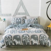 Sleep Buddy Set Sprei dan bed cover Let it be Cotton Sateen 180x200x30