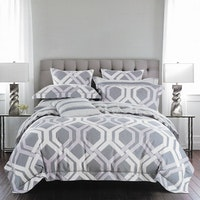 Sleep Buddy Set Sprei Spoiler Grey Cotton Sateen 160x200x30