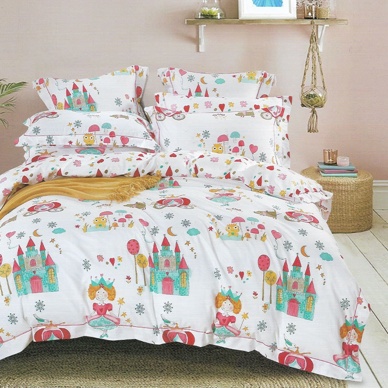 Sleep Buddy Set Sprei dan bed cover Mini Princess Cotton Sateen 200x200x30