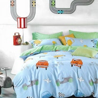 Sleep Buddy Set Sprei dan bed cover Travel Boy Cotton Sateen 200x200x30