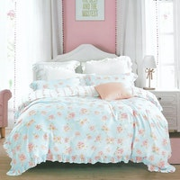 Sleep Buddy Set Sprei dan Bed Cover Baby Rose Flower Organic Cotton 160x200x30