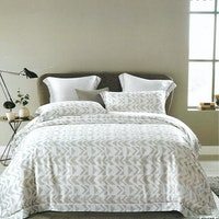 Sleep Buddy Set Sprei dan Bed Cover Grey Abstrak Organic Cotton 160x200x30