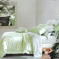 Sleep Buddy Set Sprei dan Bed Cover Soft Green Tencel 160x200x30