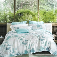 Sleep Buddy Set Sprei dan Bed Cover Blue Abstrak Organic Cotton 120x200x30