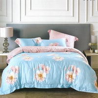 Sleep Buddy Set Sprei dan Bed Cover Big Flower Organic Cotton 160x200x30