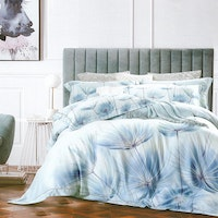 Sleep Buddy Set Sprei dan Bed Cover Dandelion Blue Organic Cotton 160x200x30