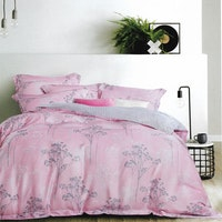 Sleep Buddy Set Sprei dan Bed Cover Forest Pink Organic Cotton 160x200x30