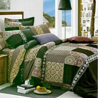 Sleep Buddy Set Sprei Classic Coffee Cotton Sateen 180x200x30