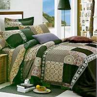 Sleep Buddy Set Sprei dan Bed Cover Classic Coffee Cotton Sateen 180x200x30