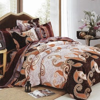 Sleep Buddy Set Sprei dan Bed Cover Brownies Cotton Sateen 180x200x30