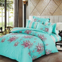 Sleep Buddy Set Sprei dan Bed Cover Chic Blue Cotton Sateen 200x200x30