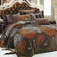 Sleep Buddy Set Sprei Big Brown Cotton Sateen 180x200x30