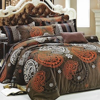 Sleep Buddy Set Sprei dan bed cover Big Brown Cotton Sateen 180x200x30