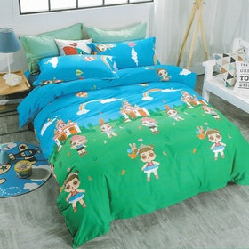 Sleep Buddy Set Sprei dan bed cover LOL Cotton Sateen 200x200x30