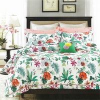 Sleep Buddy Set Sprei dan bed cover Colorfull leaf Cotton Sateen 180x200x30