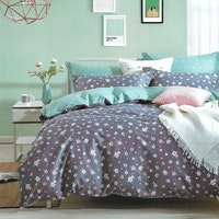 Sleep Buddy Set Sprei dan bed cover Small Flower Cotton Sateen 160x200x30