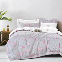 Sleep Buddy Set Sprei Sakura Cotton Sateen 160x200x30