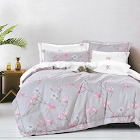 Sleep Buddy Set Sprei dan bed cover Sakura Cotton Sateen 180x200x30