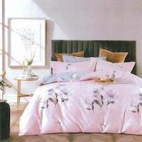 Sleep Buddy Set Sprei dan bed cover Flowery Cotton Sateen 180x200x30