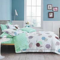 Sleep Buddy Set Sprei dan bed cover Polka Chic Cotton Sateen 200x200x30