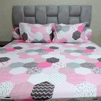 Sleep Buddy Set Sprei Mozaic Pink CVC 180x200x30