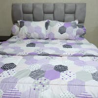 Sleep Buddy Set Sprei dan bed cover Mozaic Purple CVC 180x200x30