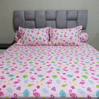 Sleep Buddy Set Sprei Pink Flamingo CVC 120x200x30