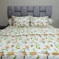 Sleep Buddy Set Sprei dan bed cover Sherry Orange CVC 160x200x30