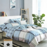 Sleep Buddy Set Sprei dan bed cover Big Square Cotton Sateen 160x200x30