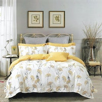 Sleep Buddy Set Sprei dan bed cover Sunny Garden Cotton Sateen 160x200x30