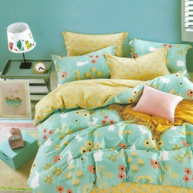 Sleep Buddy Set Sprei Happy Day Cotton Sateen 200x200x30