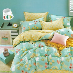 Sleep Buddy Set Sprei dan bed cover Happy Day Cotton Sateen 200x200x30