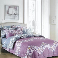 Sleep Buddy Set Sprei Flower Chevron Cotton Sateen 160x200x30