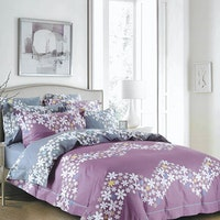 Sleep Buddy Set Sprei Flower Chevron Cotton Sateen 180x200x30