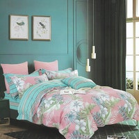Sleep Buddy Set Sprei Cotton Natalie Garden Sateen 160x200x30