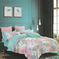 Sleep Buddy Set Sprei dan bed cover Natalie Garden Cotton Sateen 200x200x30