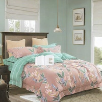 Sleep Buddy Set Sprei dan bed cover Aden Classic Cotton Sateen 160x200x30