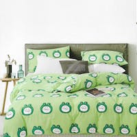 Sleep Buddy Set Sprei dan bed cover Froggy Cotton Sateen 120x200x30