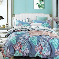 Sleep Buddy Set Sprei dan bed cover Herbeno Cotton Sateen 160x200x30