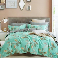 Sleep Buddy Set Sprei dan bed cover Leaf Tosca Cotton Sateen 200x200x30