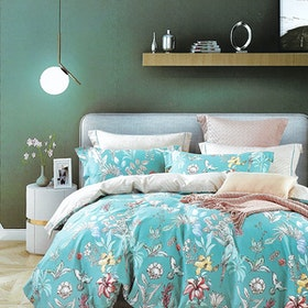 Sleep Buddy Set Sprei dan bed cover Foralis Cotton Sateen 200x200x30