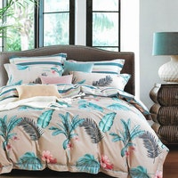 Sleep Buddy Set Sprei dan bed cover Heart Lea Cotton Sateen 160x200x30