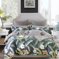 Sleep Buddy Set Sprei Cotton Lea Garden Sateen 160x200x30