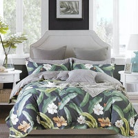 Sleep Buddy Set Sprei dan bed cover Lea Garden Cotton Sateen 180x200x30