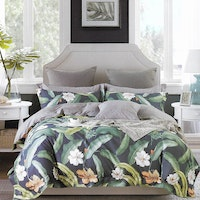 Sleep Buddy Set Sprei dan bed cover Lea Garden Cotton Sateen 200x200x30