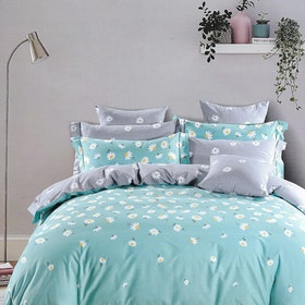 Sleep Buddy Set Sprei dan bed cover Sun Flower Cotton Sateen 180x200x30