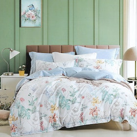 Sleep Buddy Set Sprei dan bed cover Maymill Cotton Sateen 160x200x30