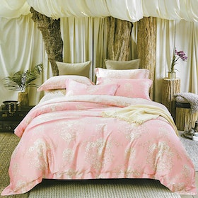 Sleep Buddy Set Sprei Pinky Silk Organic Cotton 160x200x30