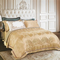 Sleep Buddy Set Sprei Classic  Ivory Jacquard Cotton 160x200x40